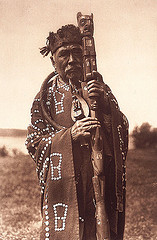 First Nations man black and white photo